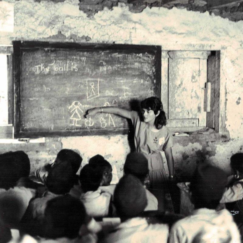 Anne Goldie in Nepal in 1983