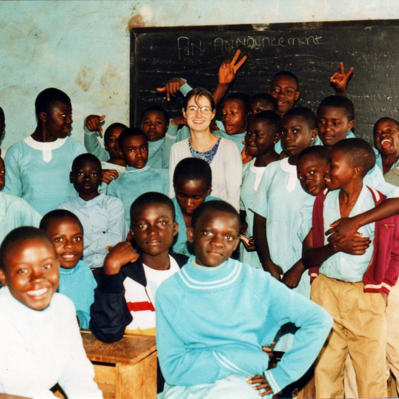 Victoria teaches at a school in Malawi