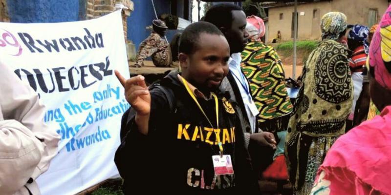 Elias Musabyimana national volunteer EQUECER VSO Rwanda