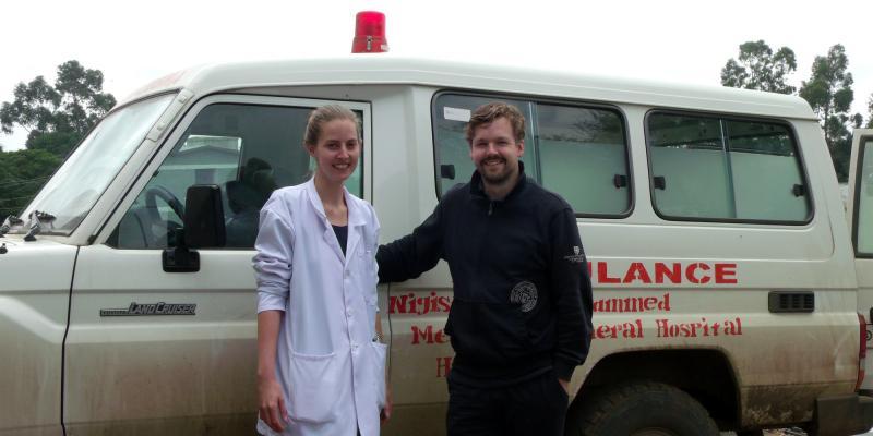 VSO volunteering couple Nanda and Hilbert-Jan in Ethiopia