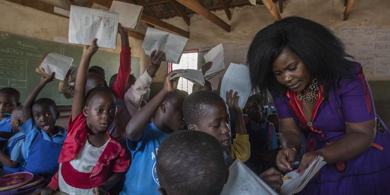 Teacher Grace Chigwechokha in Malawi