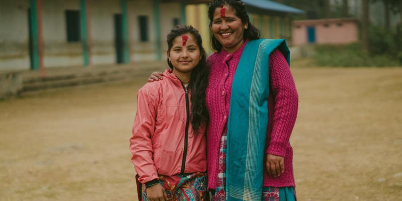 Durga (Big Sister) and Nirmala (Little Sister)