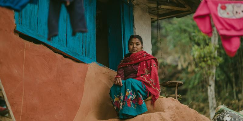 Young wife in Nepal