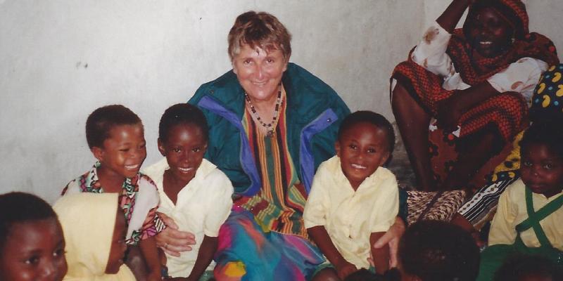 Volunteer Mira Howard visiting a primary school in Namibia