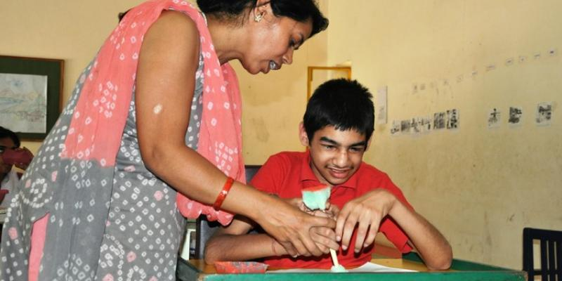 Teaching children with visual impairment in Indian classroom   VSO