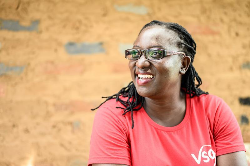 VSO volunteer Monica Atim
