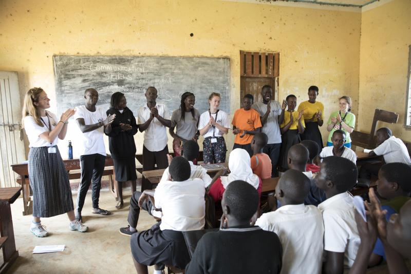 ICS volunteers tackle youth unemployment in Uganda