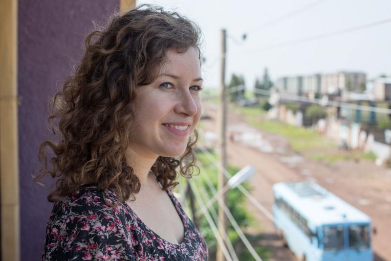 VSO volunteer Miriam Etter, 25, pictured here at her home in Shire, Ethiopia