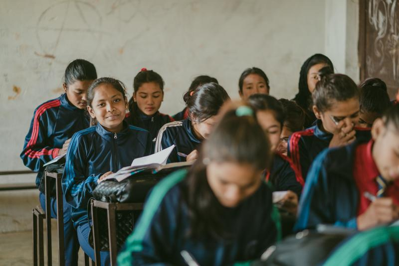Children in a classroom in Nepal
