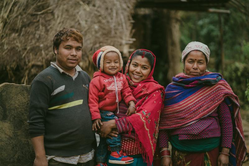 A family in Nepal