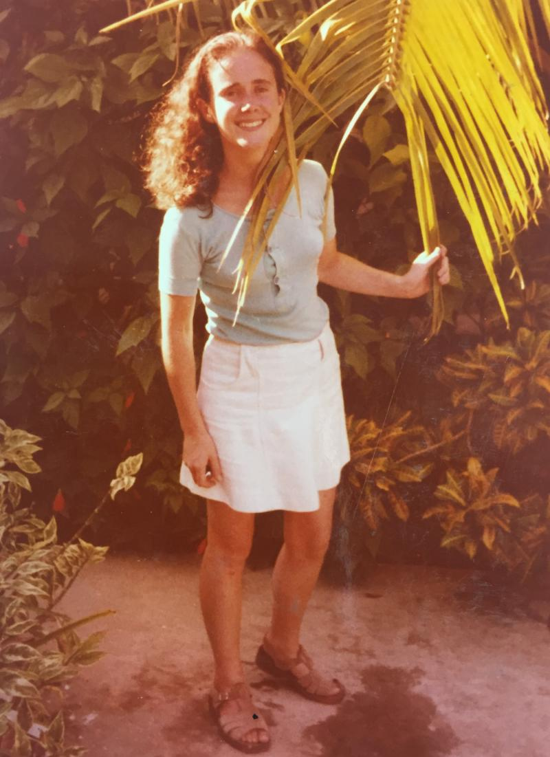 Heather Thomas is pictured here on her placement in Jamaica in 1973.