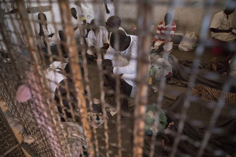 Inside a prison cell in Zimbabwe, Africa