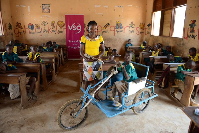 Before receiving his tricycle, Kuruk's disability made it very hard for him to get to school. Kuruk's school - Presentation Primary School, in Nabdam district, Northern Ghana has also been made accessible through the addition of ramps.